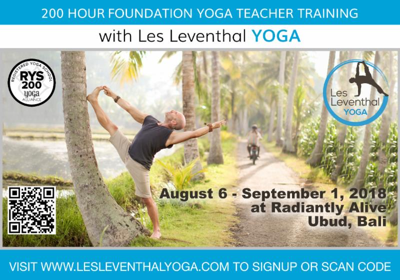 Les Leventhal Yoga Teacher Training Bali