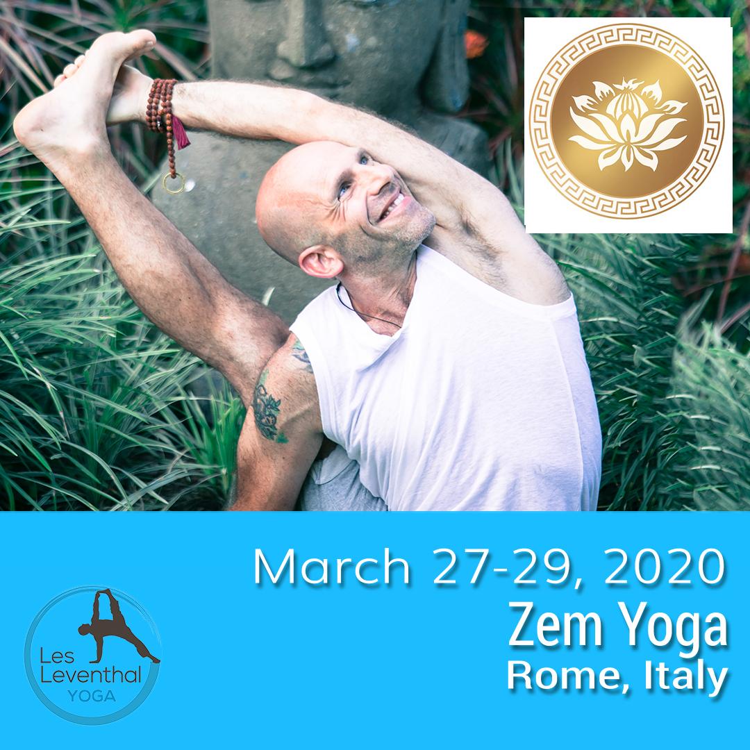 Rome Italy Zem Yoga Les Leventhal Workshops